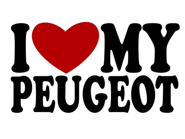 samolepka i love my peugeot