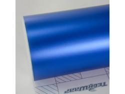 Modrá saténová chrómová fólia